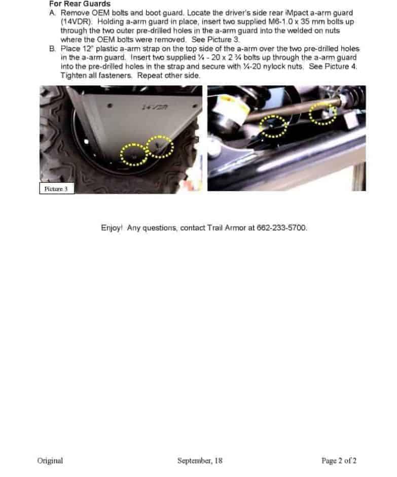 Yamaha Viking Impact A-arm Cv Front And Rear Boot Guards