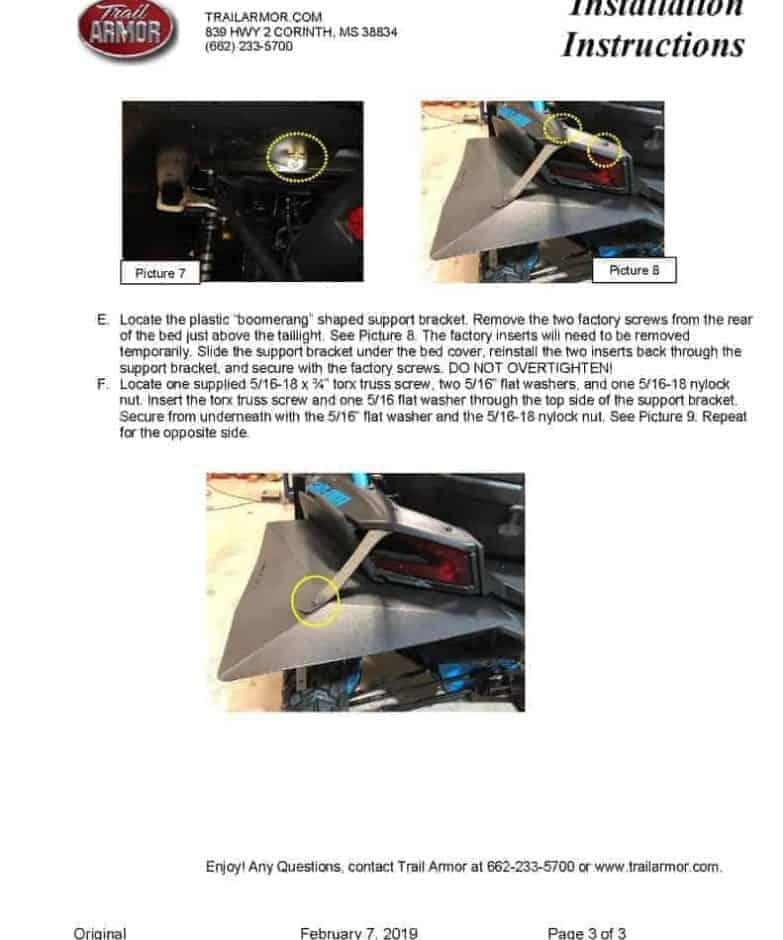 Can-am Maverick X3 Super Wide Mud Flap Fender Extensions