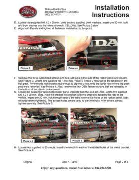 Honda Talon Full Skid Plates With Integrated Side Skid Plates