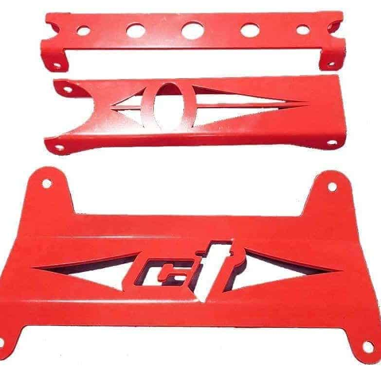 Maverick Piece Front Gusset Kit Can Am Red