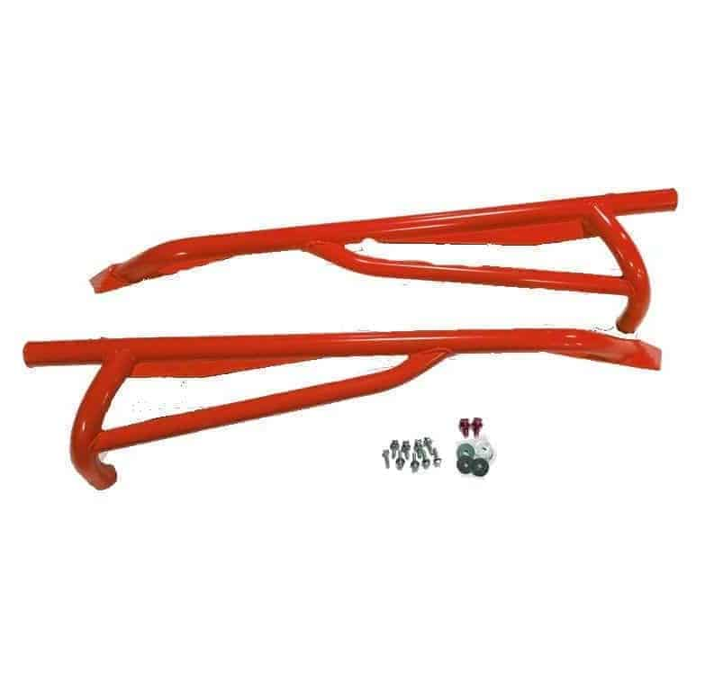 Maverick Nerf Bar Rock Sliders Can Am Red