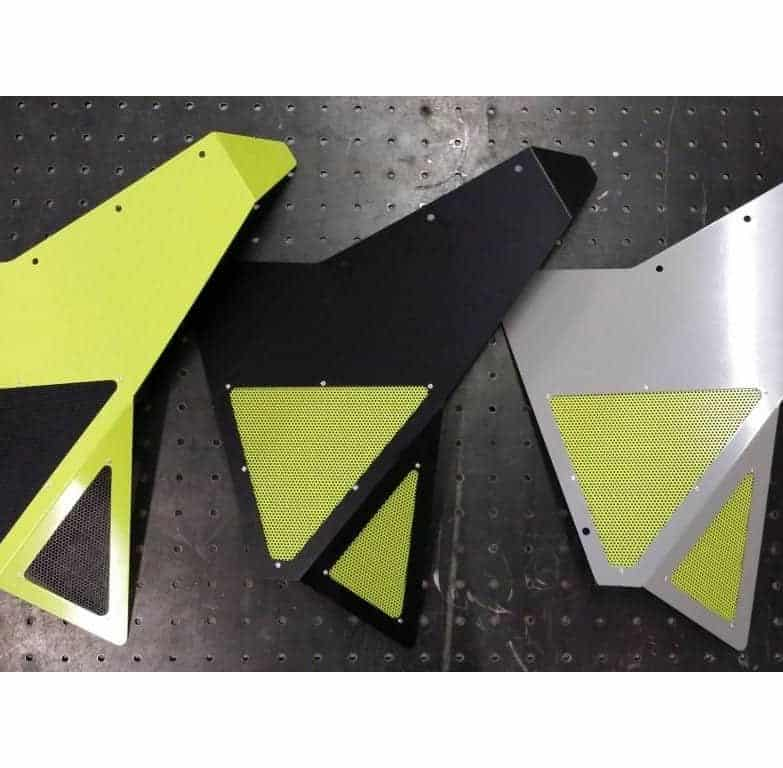 Maverick Xds Turbo Rear Fender Supports With Mesh Vented Inserts