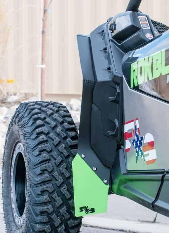 Can-am Maverick X3 Mud Flap Fender Extensions
