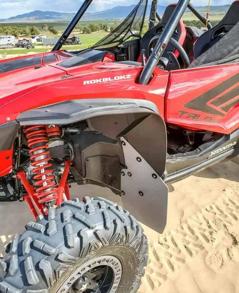 Honda Talon Mud Flap Fender Extensions