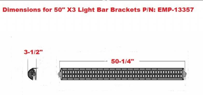 Can-am Maverick X3 Light Bar Mounts