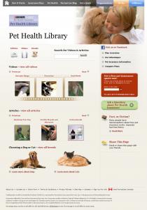 PurinaCare Pet Health Library Screenshot