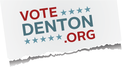 Vote Denton logo