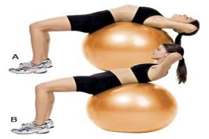 Ball Crunch Fitness