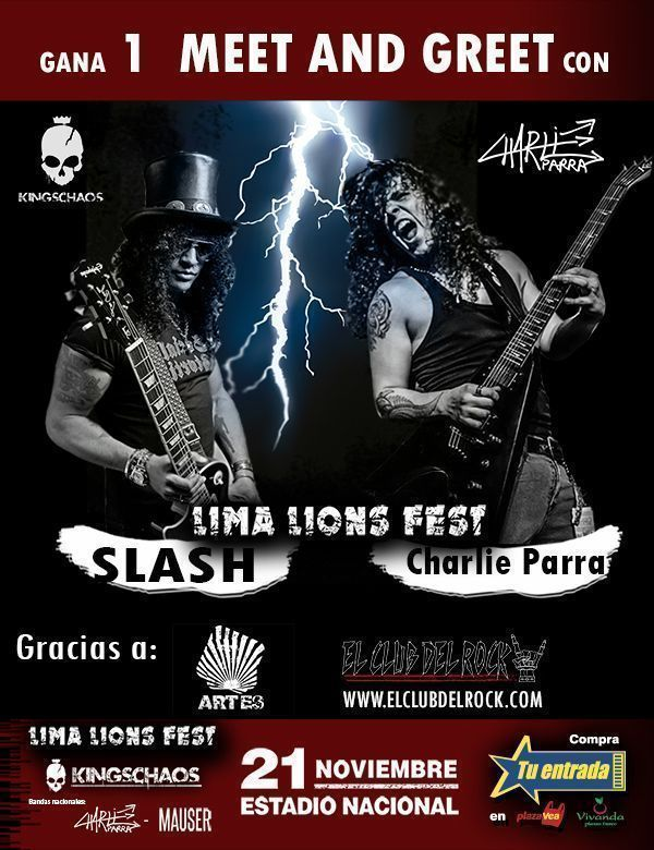 MEET AND GREET CHARLIE PARRA Y SLASH