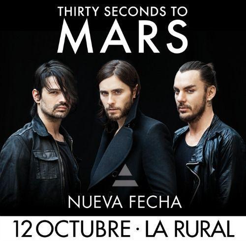 30 seconds to mars la rural 12 de octubre