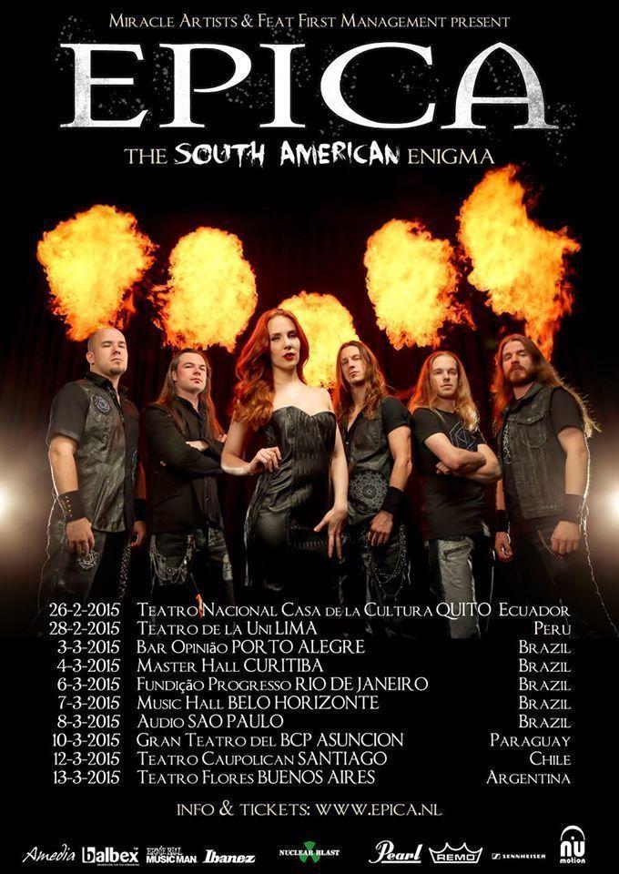 Epica en Paraguay Marzo 2015