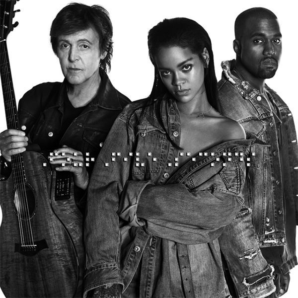 Paul McCartney Rihanna Kanye West Foto tomada del facebook de Rihanna