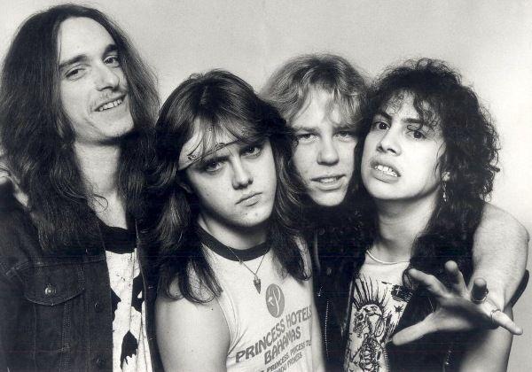 Metallica 1986 Foto tomada de classicrockstarsbirthdayscom