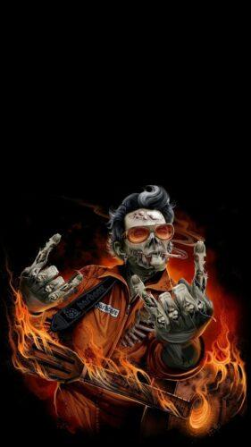 Hard rock zombie Halloween1