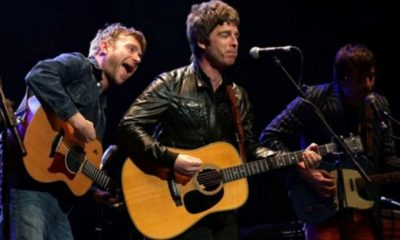 damon albarn y noel gallagher en vivo
