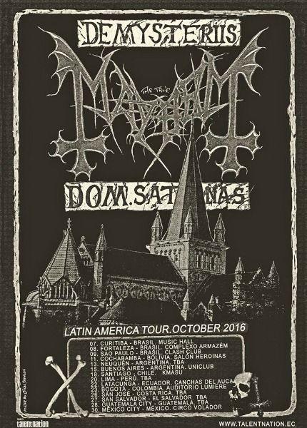 gira latinoamericana de mayhem