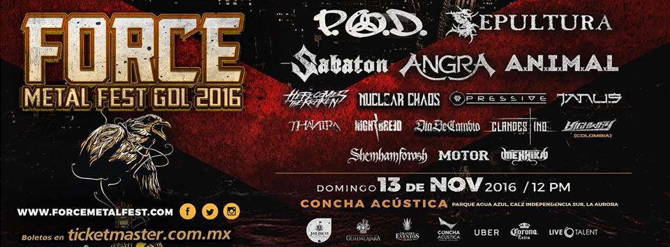 Force Metal Fest GDL 2016