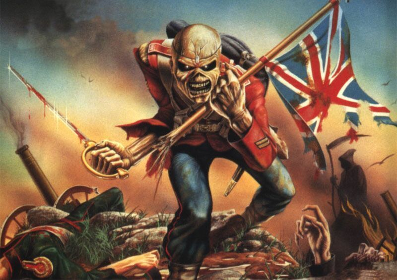 Iron Maiden bandera Inglesa