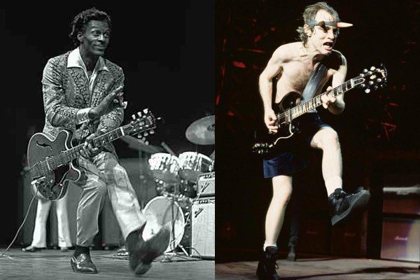 angus young y chuck berry duck walk