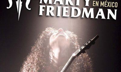 portada Flyer Oficial MARTY FRIEDMAN EN MÉXICO 2018