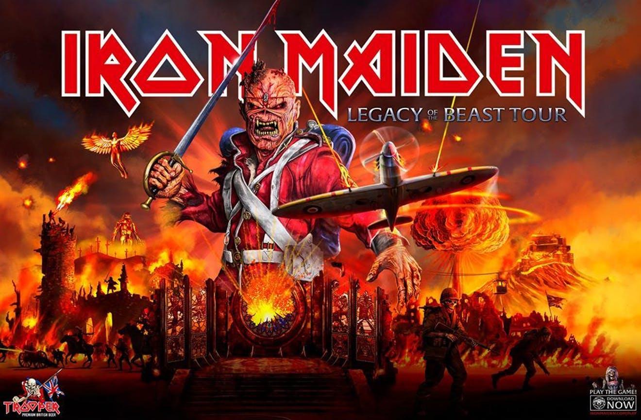 Iron Maiden Australian Tour Poster