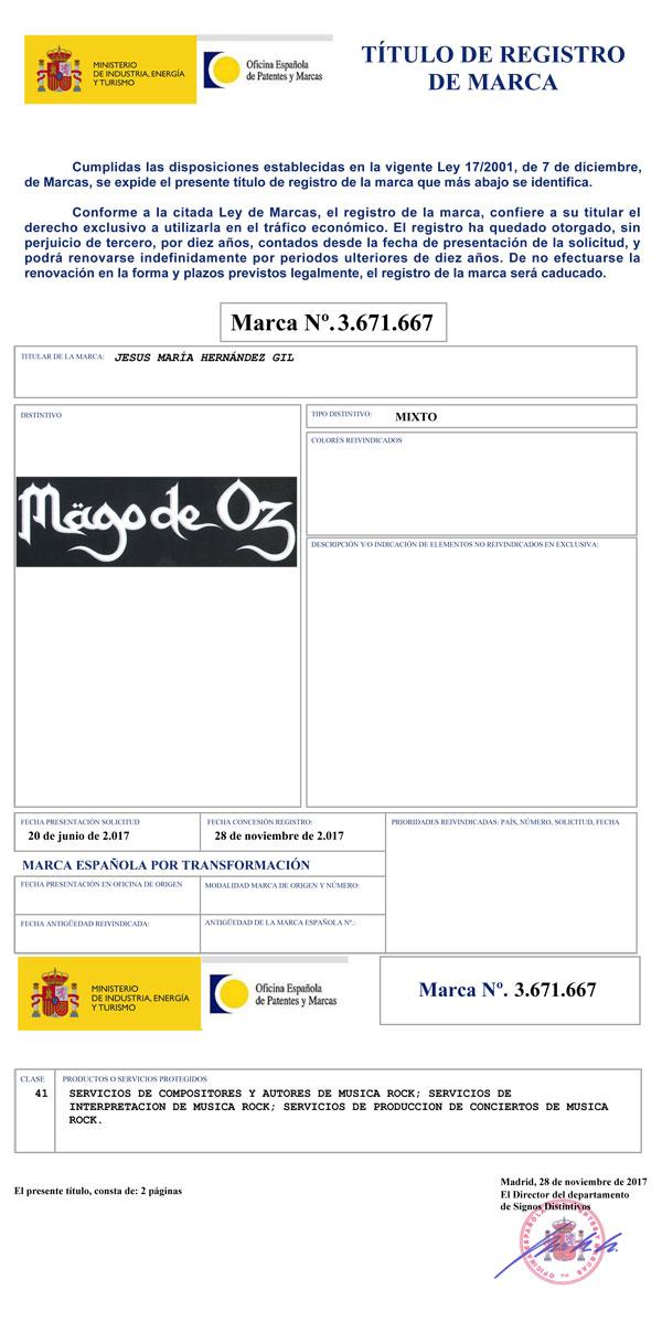 cb9af5ab registro de marca mago de oz