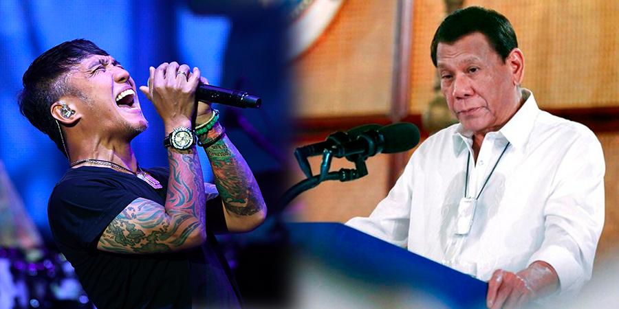 Arnel Pineda y Rodrigo Duterte