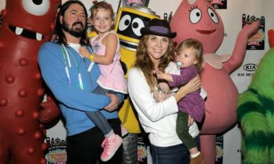 Dave Grohl con sus hijas Violet y Harper Grohl