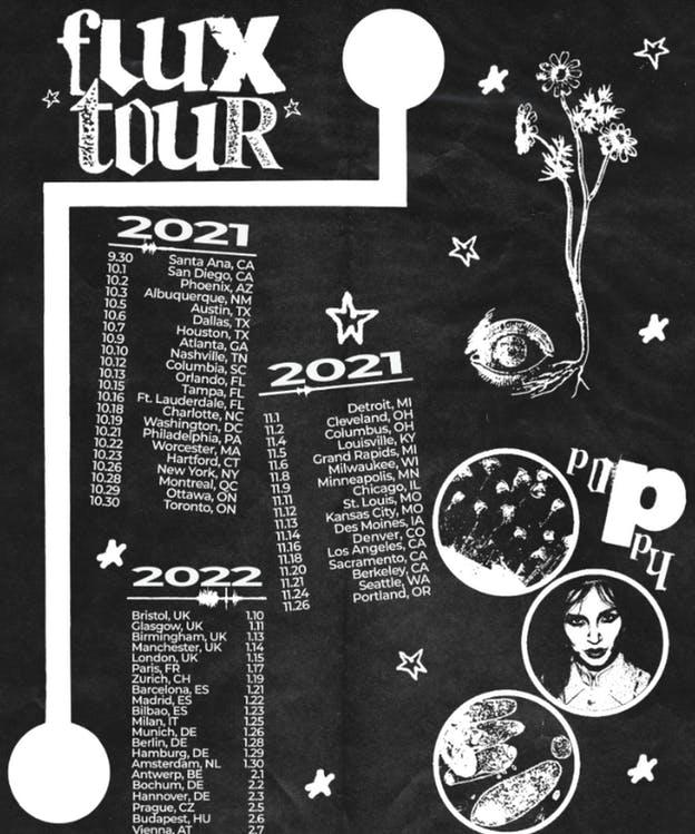 40453ce0 poppy flux headline tour