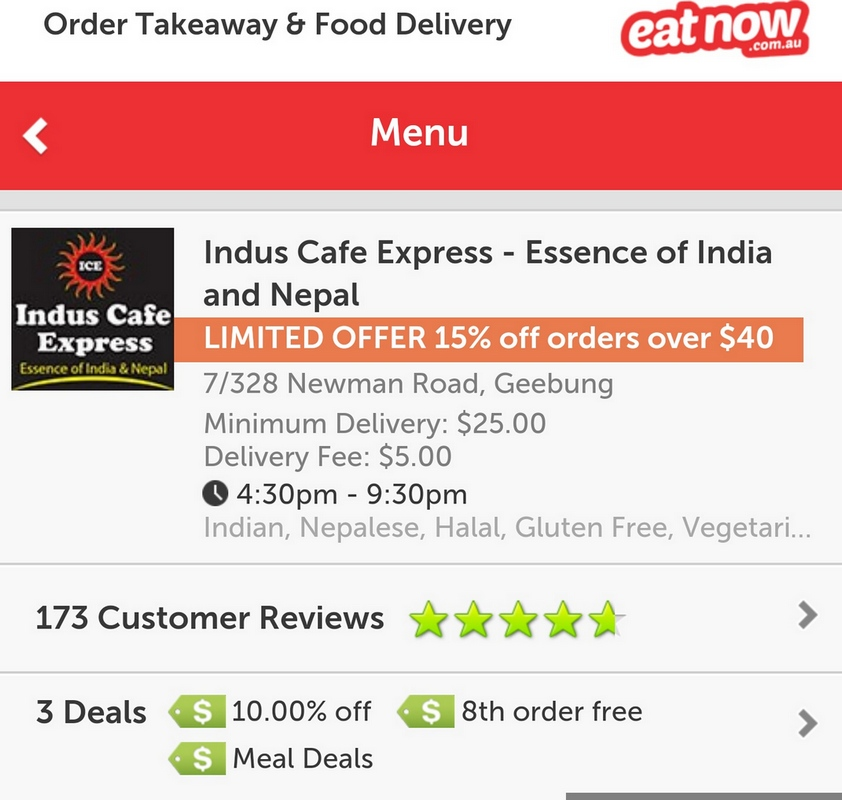Induscafe deal