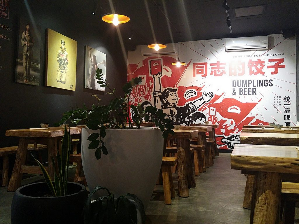Little red dumpling mural