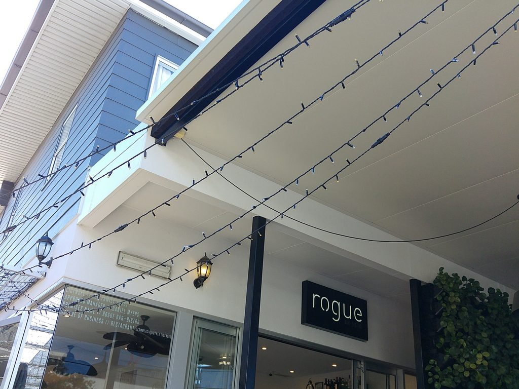 Rogue bar and bistro outside