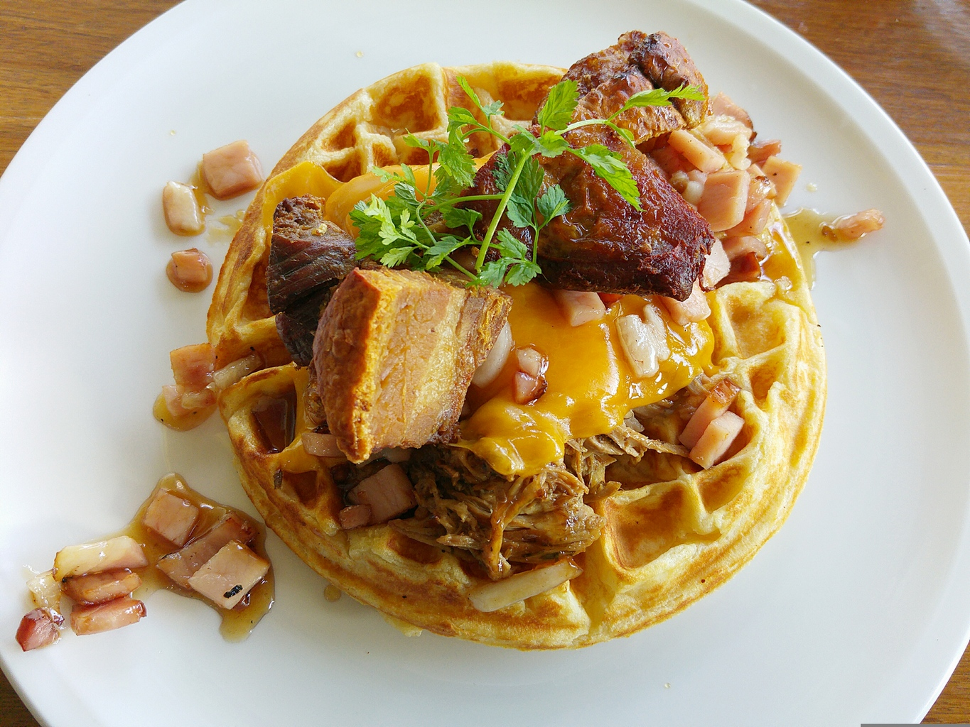 Two little pigs waffle