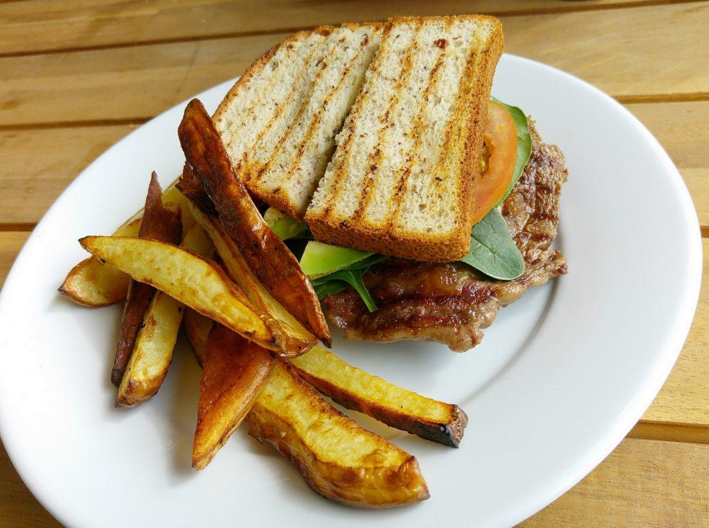 Wholesomeness steak sandwich