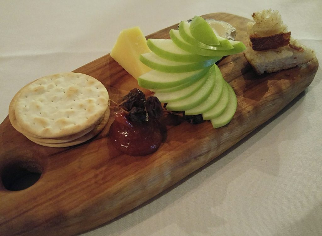 Restaurant two cheese platter