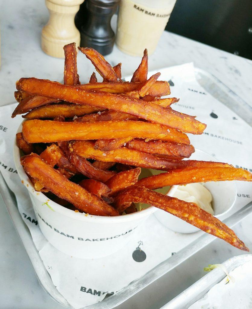 bam bam bakehouse sweet potato fries