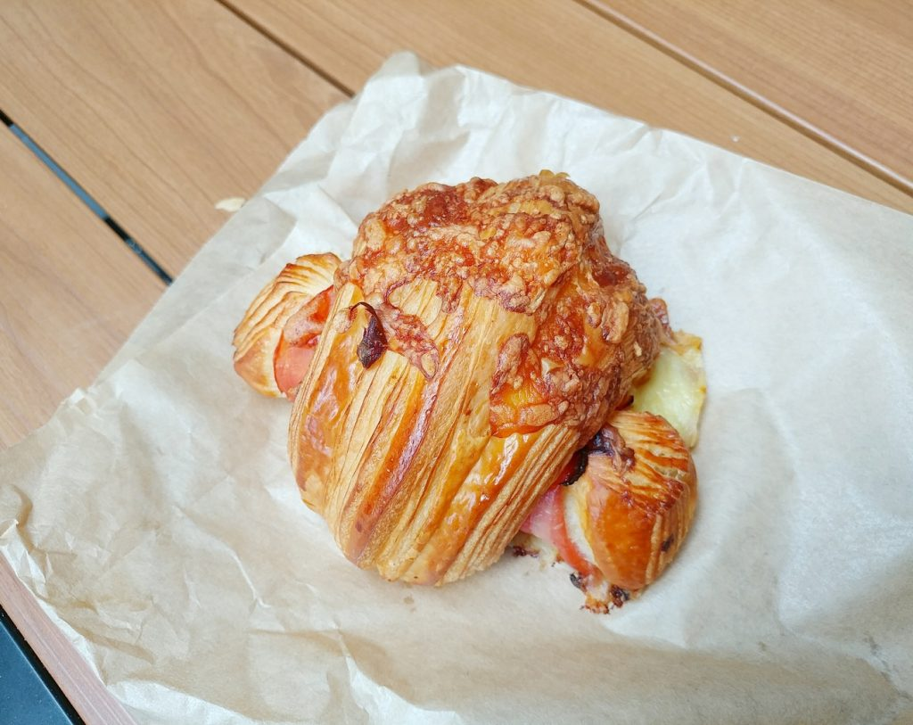 christian jacques artisan boulanger ham and cheese croissant