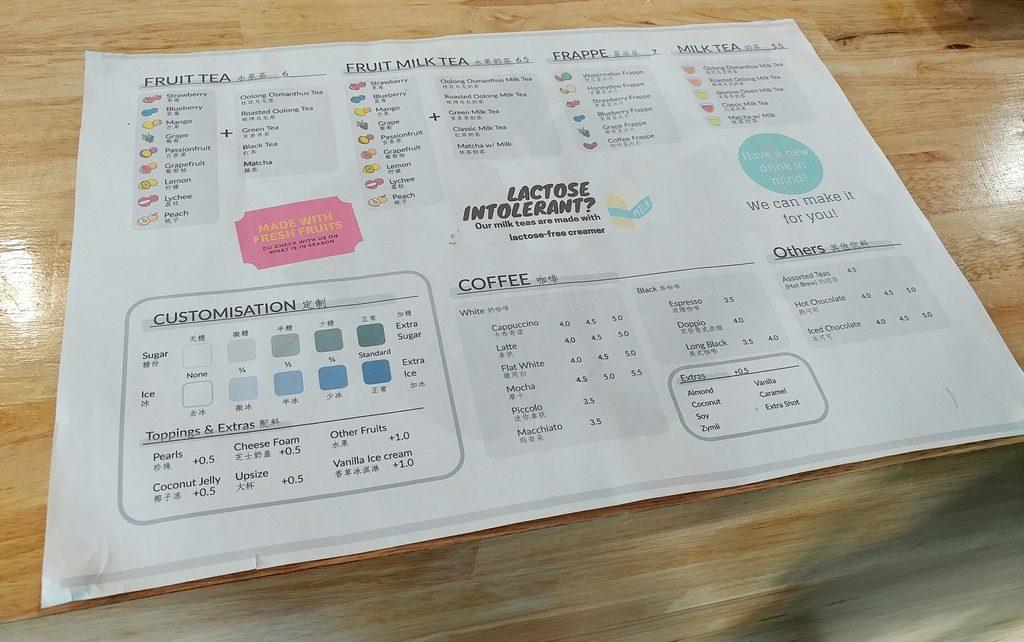 cafe artease menu