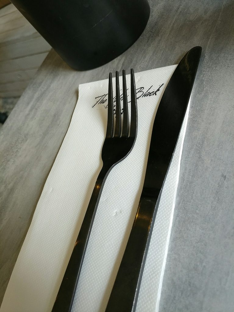 the new black cutlery