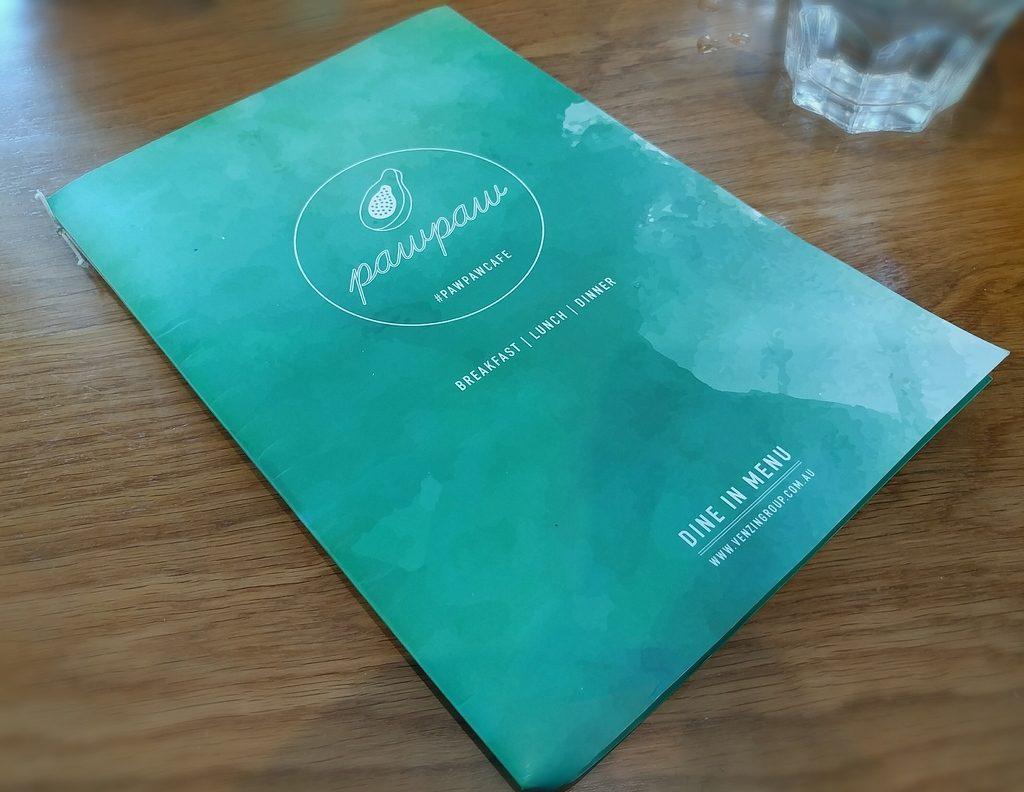 paw paw cafe menu