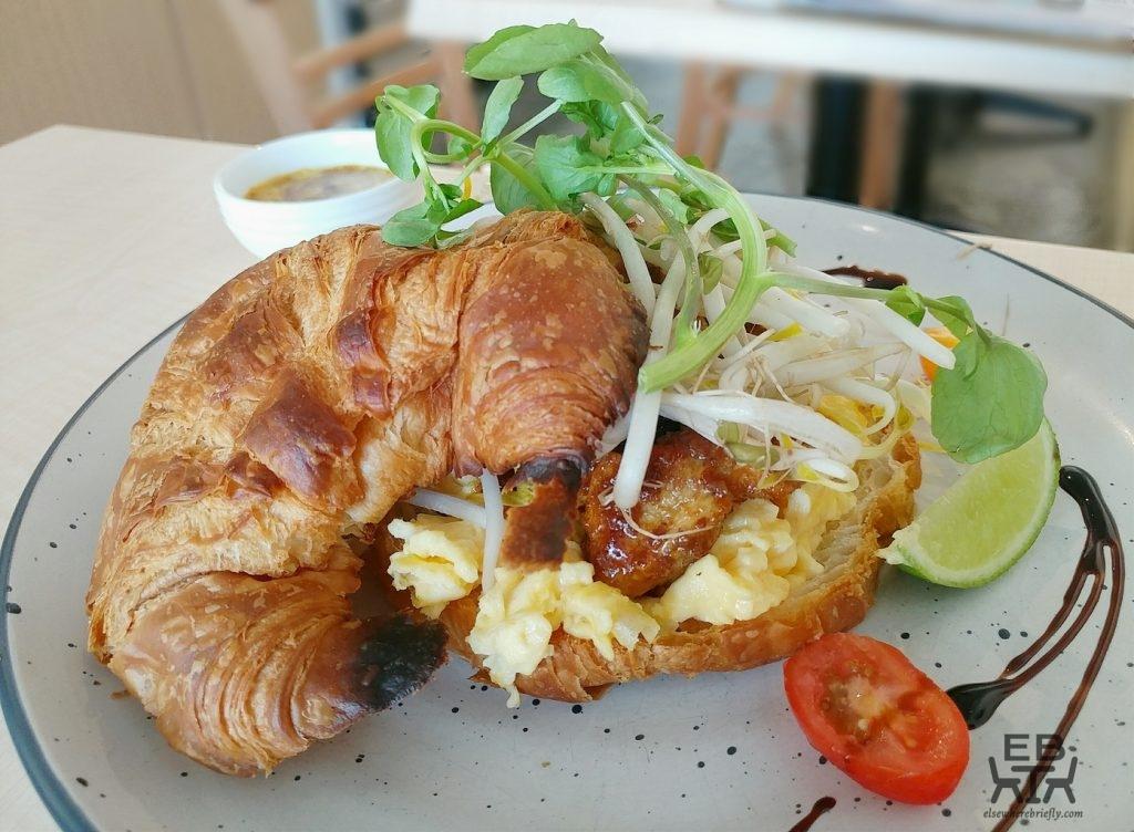 cafe impero satay chicken croissant