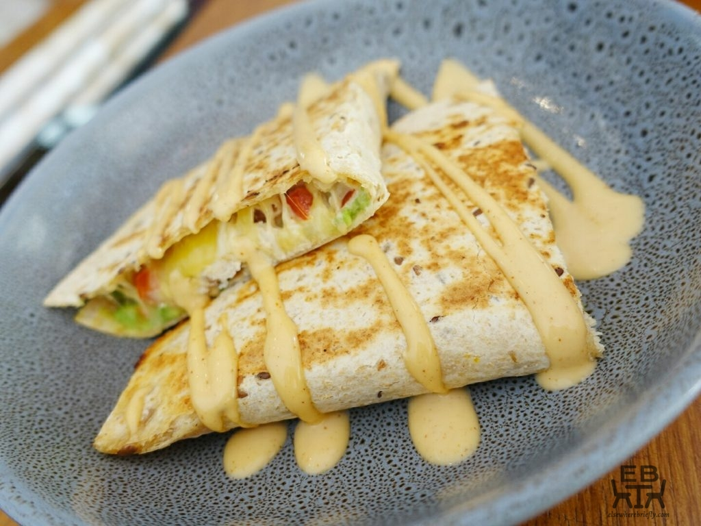 blue bear coffeehouse quesadilla