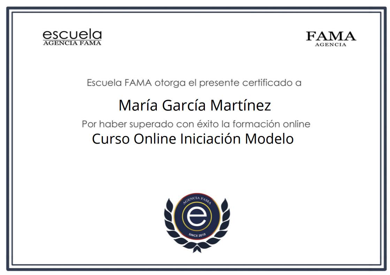 Diploma Curso Online Modelo