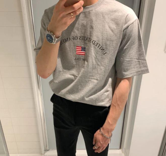 スターストライプTシャツ