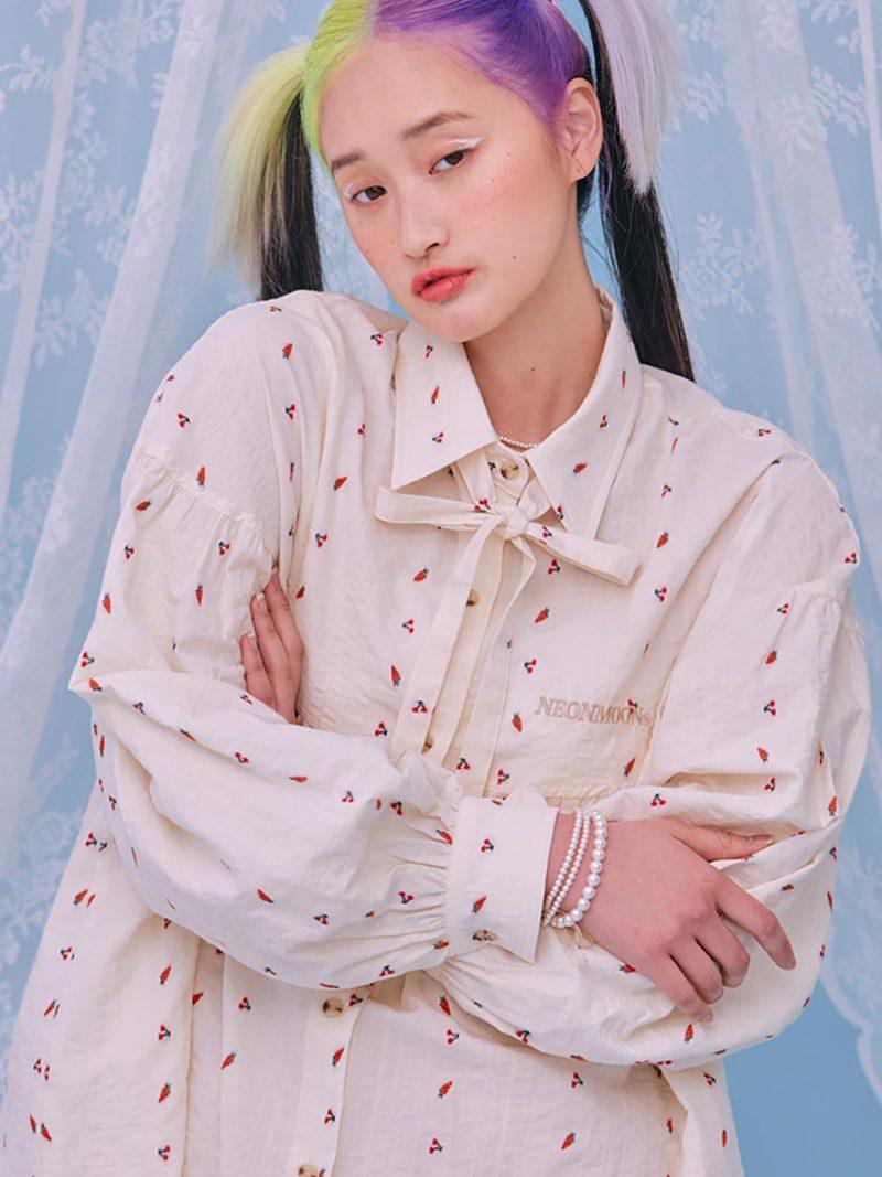 韓国ファッション 春 シャツ