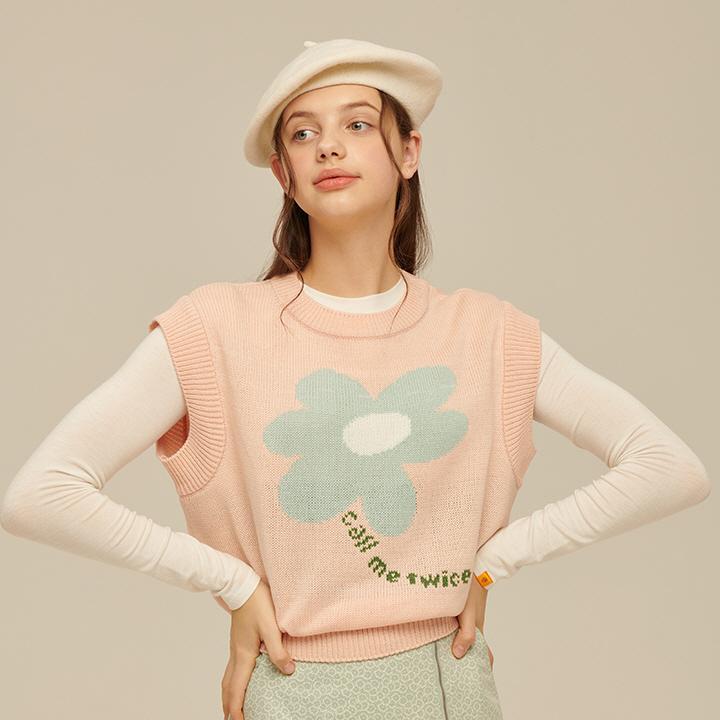 韓国ファッション ベスト ニットベスト 春
