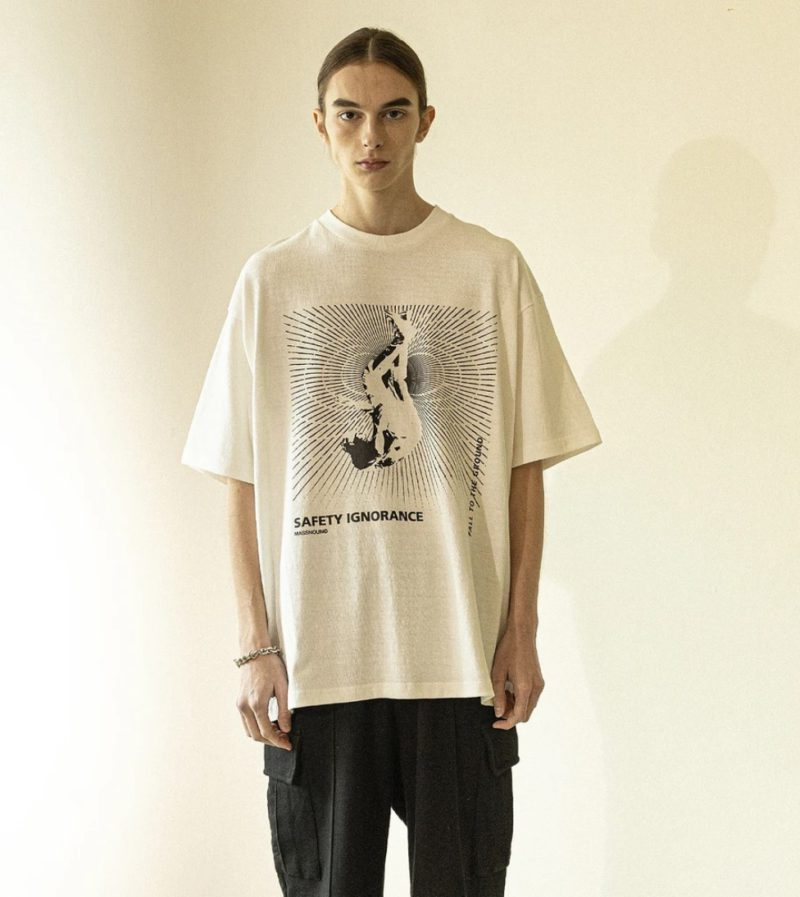 MASSNOUN (マスノウン)  プランジオーバーサイズ Tシャツ