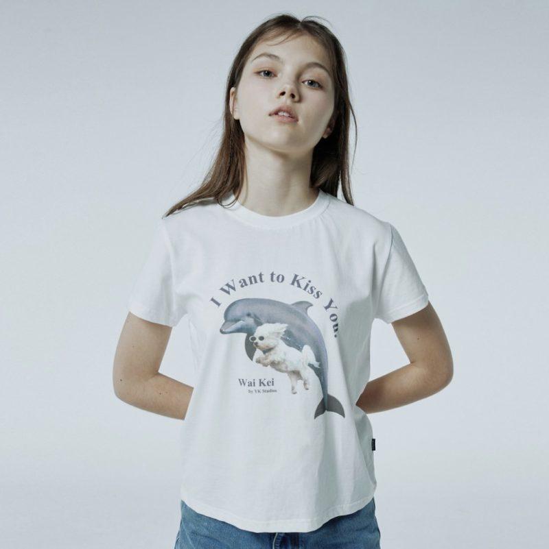 WaiKei パピードルフィンジャンピングTシャツ