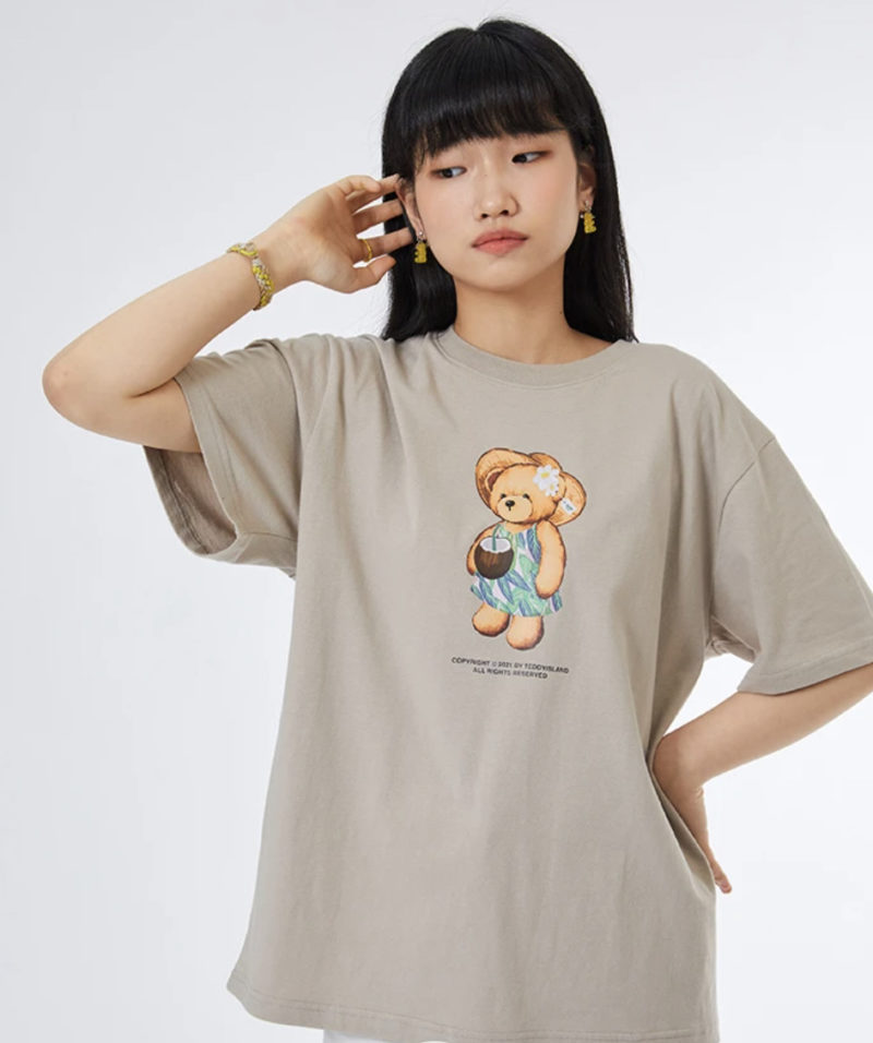 TEDDY ISLAND ハワイアンドレスTシャツ