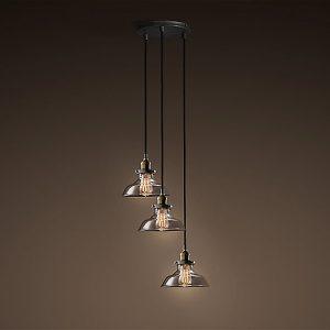 Lulu Adjustable Cord 3-light Clear Glass Edison Lamp